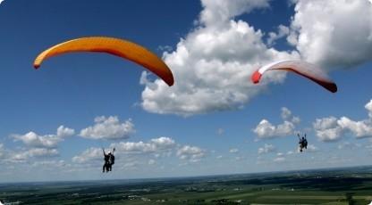 Lot paralotnią (źródło: katalogmarzen.pl)