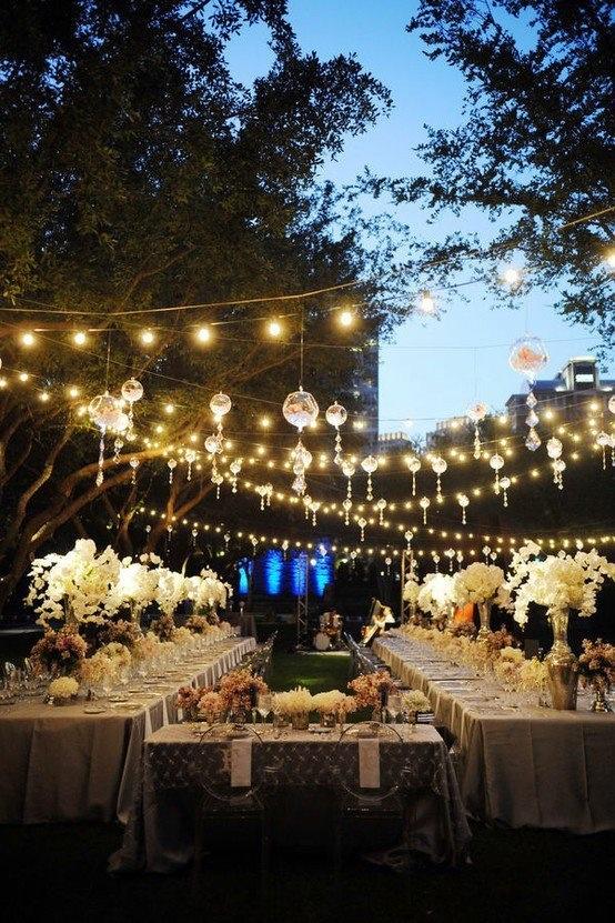 Przyjęcie weselne pod gołym niebem (źródło: pinterest)