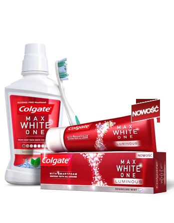 Bielsze zęby: Colgate Max White One (źródło: www.colgate.pl)