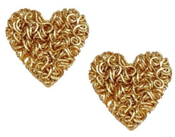 Kolczyki złote serca (źródło: www.mybaze.com)