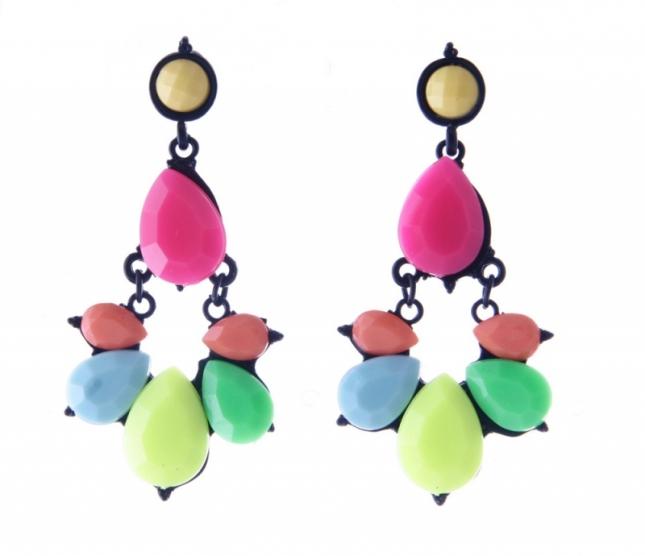 Kolorowe kolczyki wiszące (źródło: www.mybaze.com)