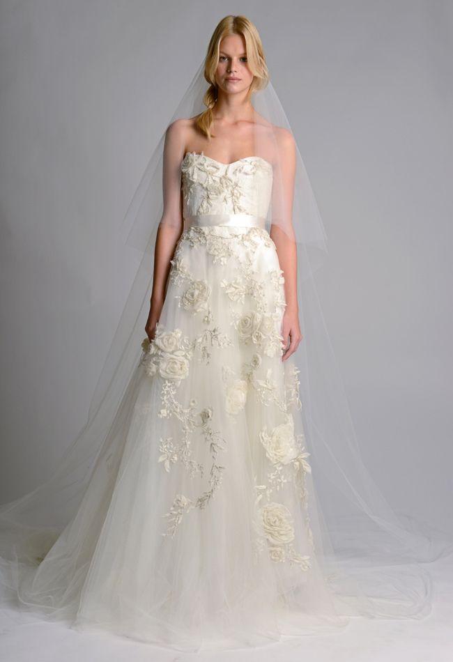 Suknia ślubna od Marchesy (źródło: pinterest)