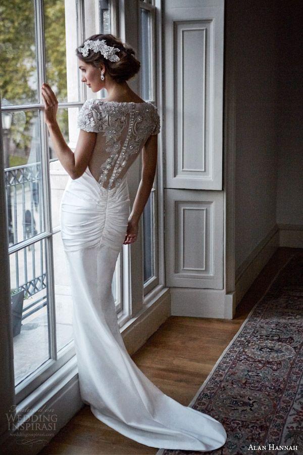 Suknia ślubna projektu Alana Hannah (źródło: pinterest)