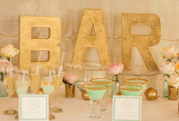 Drink Bar dla gości (źródło: pinterest)