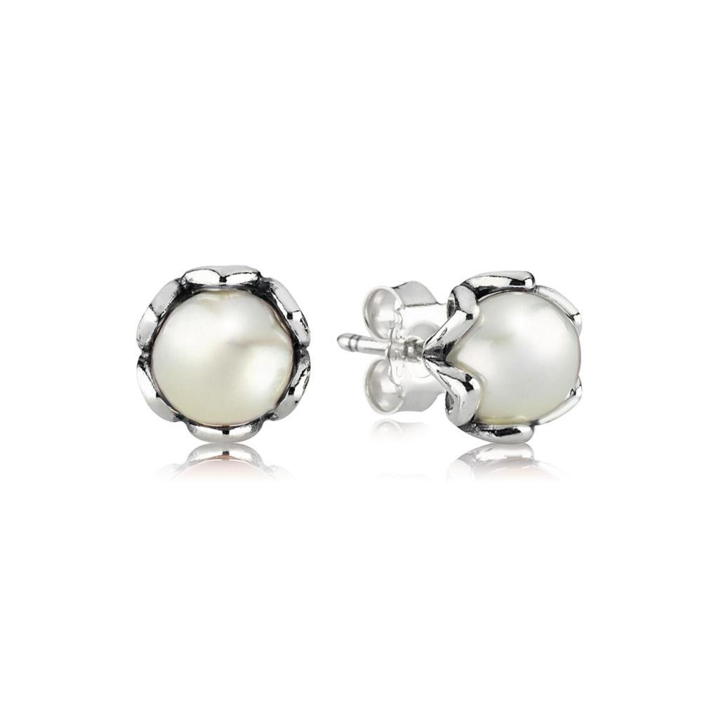 kolczyki srebrne z ponadczasową perłą