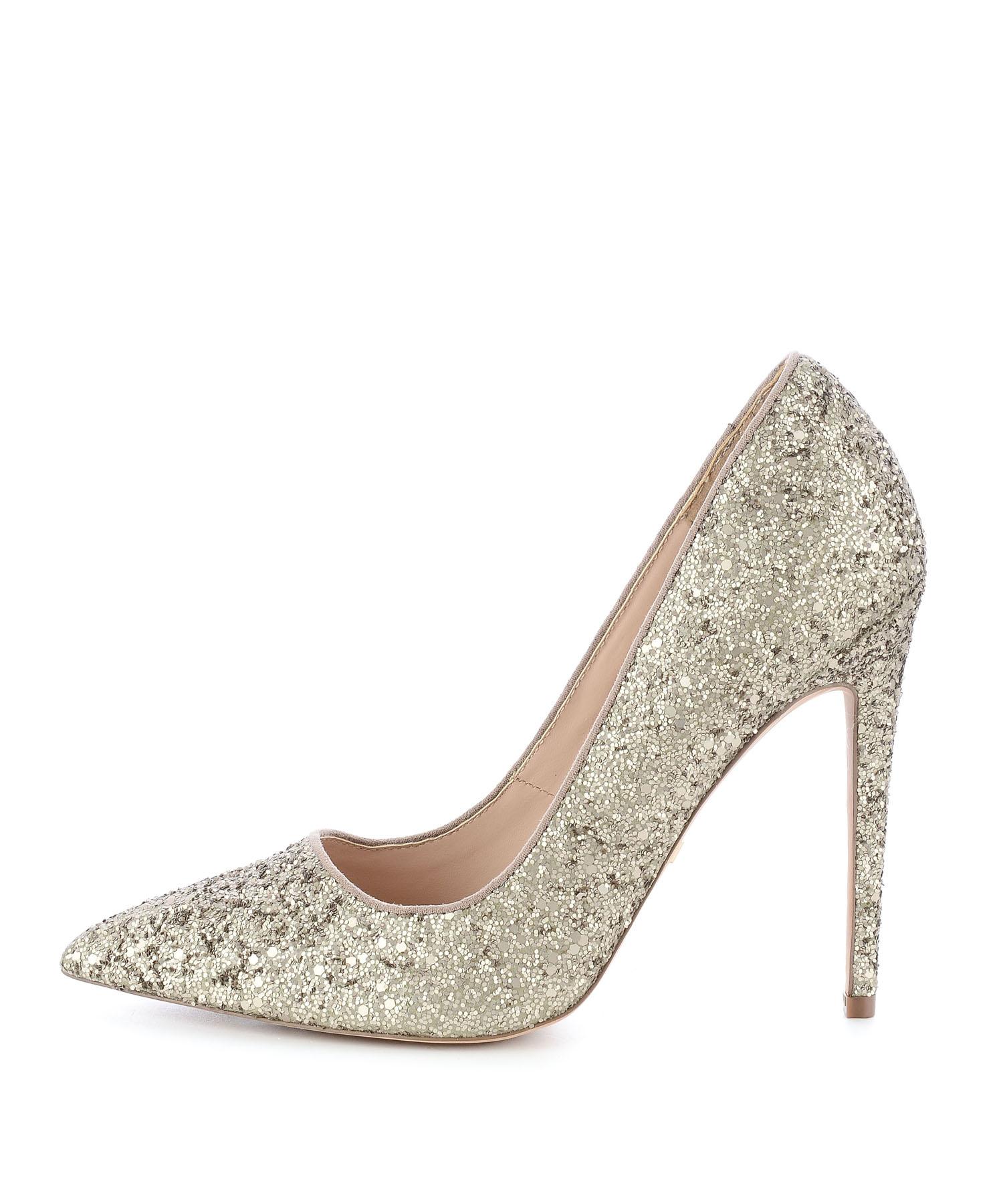 złote brokatowe szpilki Prima Moda