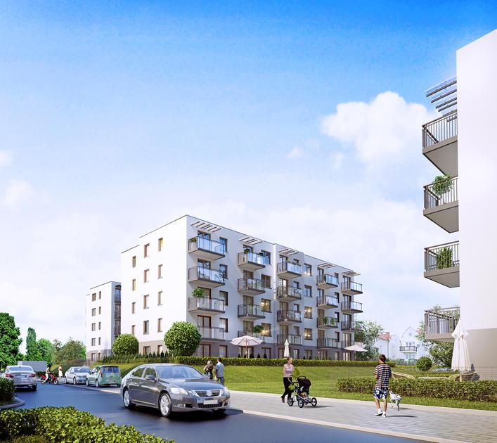 nowe mieszkania Gdańsk w niskiej zabudowie na spokojnym osiedlu