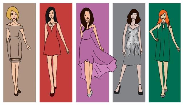 modne stylizacje weselne w pięciu kolorach pantone