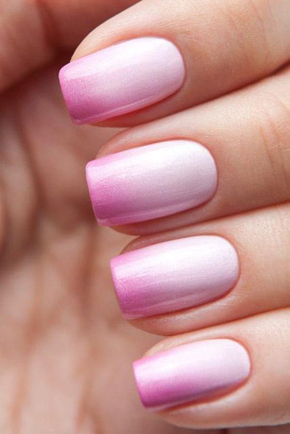 ślubne manicure - przepiękne różowe ombre