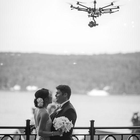 fotografia ślubna poznań z dronem w tle