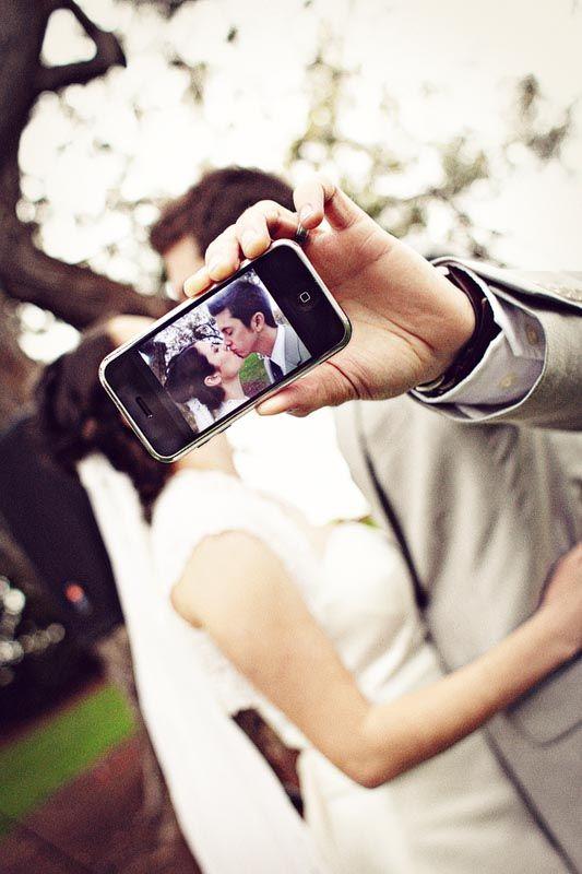 fotografia ślubna telefonem