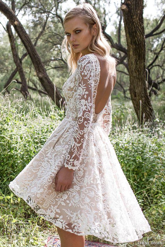 modna krótka sukienka ślubna