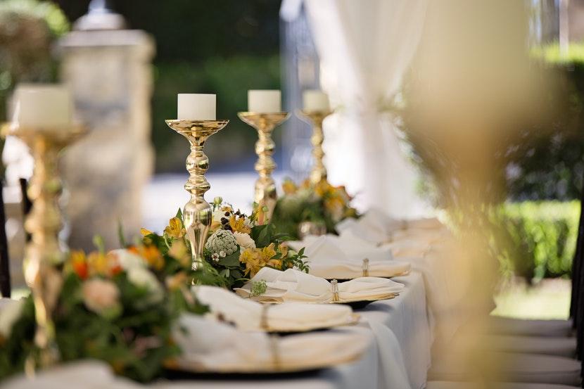 ozdoby stołu weselnego